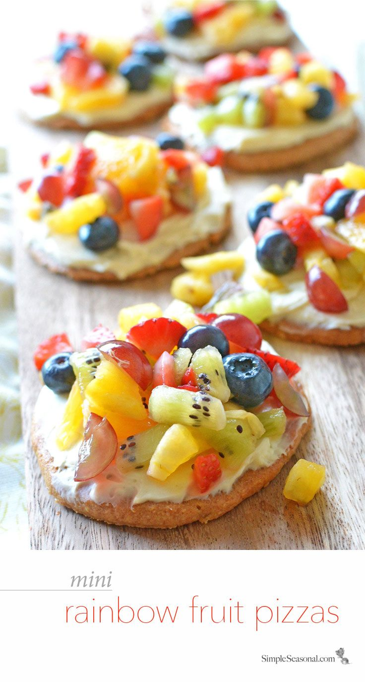 Check Out Healthy Mini Rainbow Fruit Pizzas It 39 S So Easy