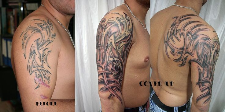 Tribal Sleeve Cover Tattoo by 2Face-Tattoo on DeviantArt