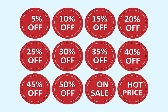 vector of  sale tags by charnsitr on @creativemarket