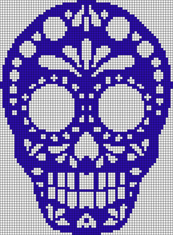 Sugar Skull Patrón Telar o Ladrillo