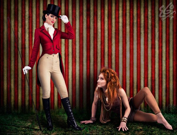 Carnival! Love these Ringmaster and lion costumes! - 9 Circus Cosplays