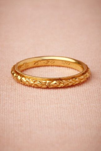 vintage gold wedding band it literally the most perfect thing ever