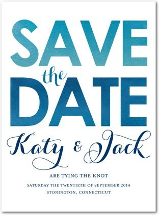 Signature Custom Save the Date Cards Radiant Names