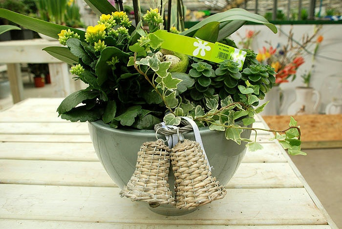 Een lentegroen bloemstuk om je woning op te frissen.
