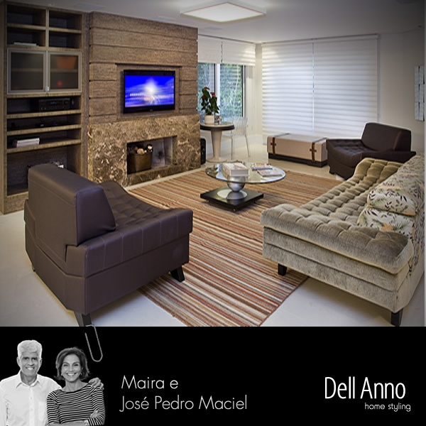 Sala De Estar Funcional ~ Aconchegante e funcional, a sala de estar combinou tons de marrom e