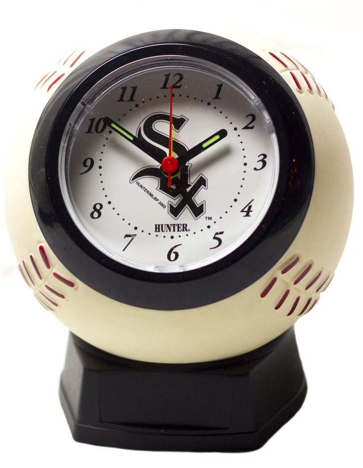 Chicago White Sox baseball shaped alarm clock