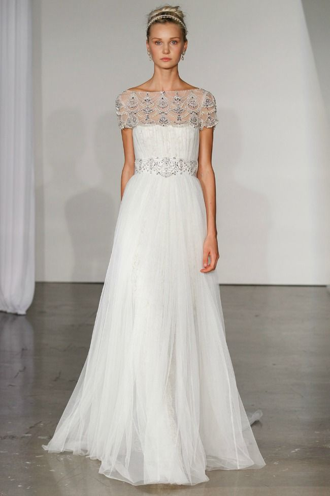 Grecian wedding dress style - Marchesa