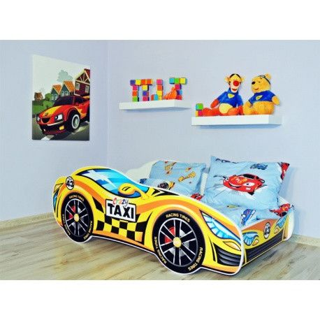 'Crazy Taxi' New York style racing car bed for toddlers - black and yellow #NY - The Little Bedroom Company
