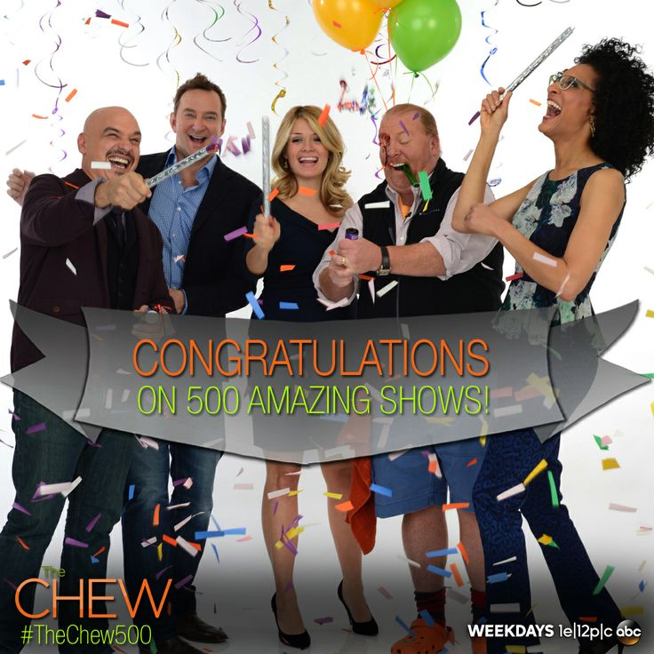 Today The Chew celebrates 500 fabulous, food-filled, fun-time episodes! #TheChew500