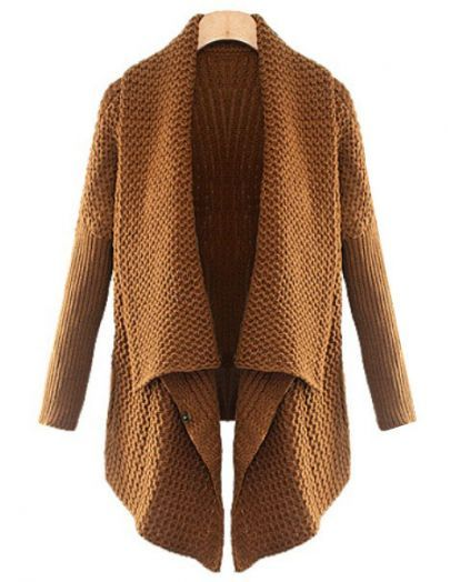 Brown Batwing Long Sleeve Loose Cardigan pictures-$31.99