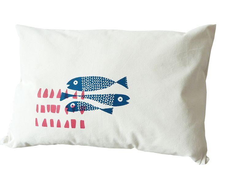 Kissenbezüge - Feine Steinbeißer, Baumwollbezug 60x40, handgenäht - ein Designerstück von cherry_bomb bei DaWanda