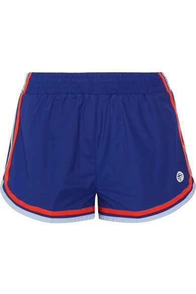 Tory Sport - Striped Shell Shorts - Storm blue - medium