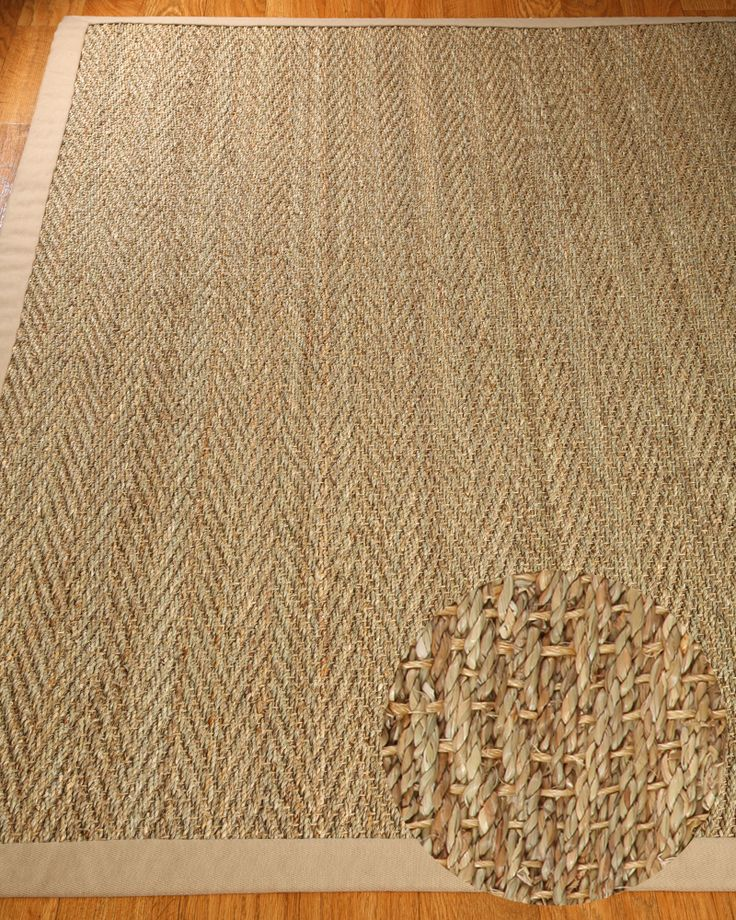 Opulence Seagrass Rug Sage Khaki W FREE Pad