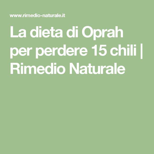 La dieta di Oprah per perdere 15 chili | Rimedio Naturale
