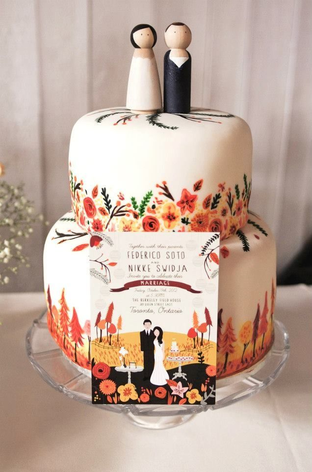 Hand painted wedding cake,painted wedding cakes ideas