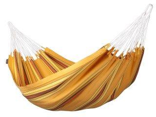 Currambera Hängematte H140 von La Siesta, Orange, 220x140cm - Liegefläche aus reiner Baumwolle