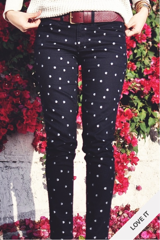 Polka Dot. I have these from The Gap. They are to big and I can't wear them. boooo