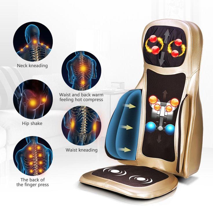 125.10$  Watch now - http://alipbb.shopchina.info/1/go.php?t=32816832304 - SUNWTR 4D electric infrared heating shiatsu massage chair sofa health care neck back kneading hip vibrator massager pad cushion  #magazineonline
