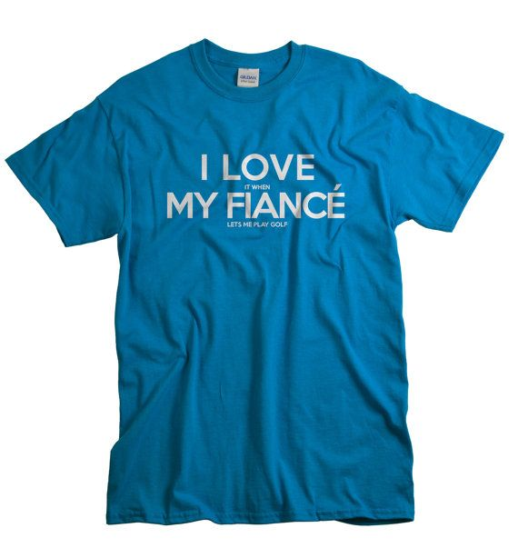 Fiance Shirt Golf Tshirt I Love My Fiance by gorillatactical