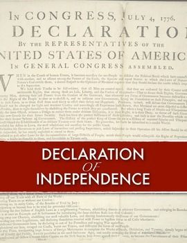 Declaration of Independence - Declaration of IndependenceThis lesson will help students better understand one of the most important documents of all time: The Declaration of Independence.  After becoming familiar with the Declaration of Independence, students will be given this series of excerpts and questions.