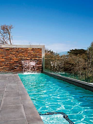 deck, wall, lap pool - I want a lap pool!