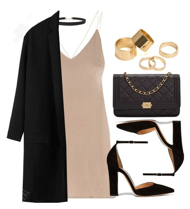 """Style #11709"" by vany-alvarado ❤ liked on Polyvore featuring Humble Chic, Gianvito Rossi, Chanel and Pieces"