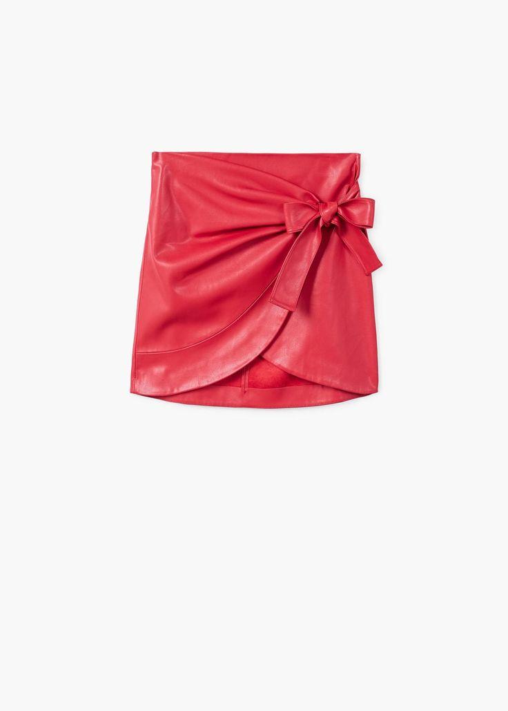 Falda cruzada lazo | MANGO