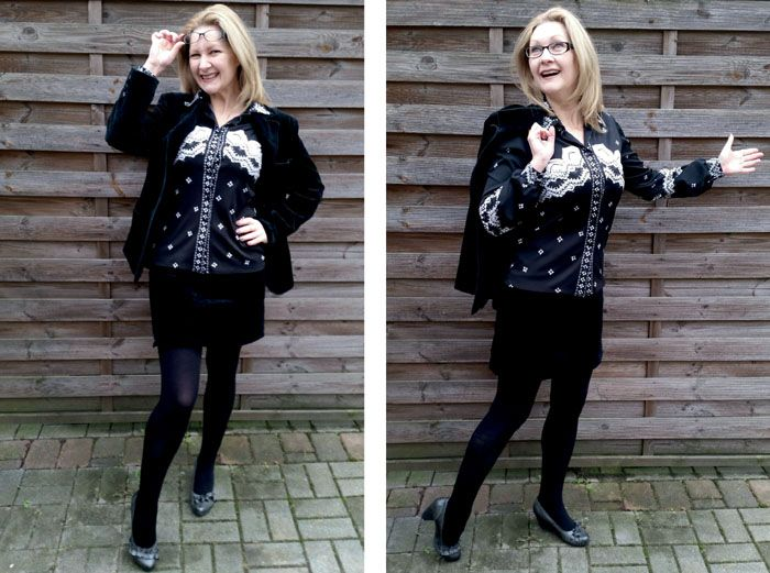 Who doesn't feel spiffy, in control & a wee bit bossy in a classy suit? Check out my €1 vintage velvet power outfit with A Perfectly Suited Thrifty Thursday