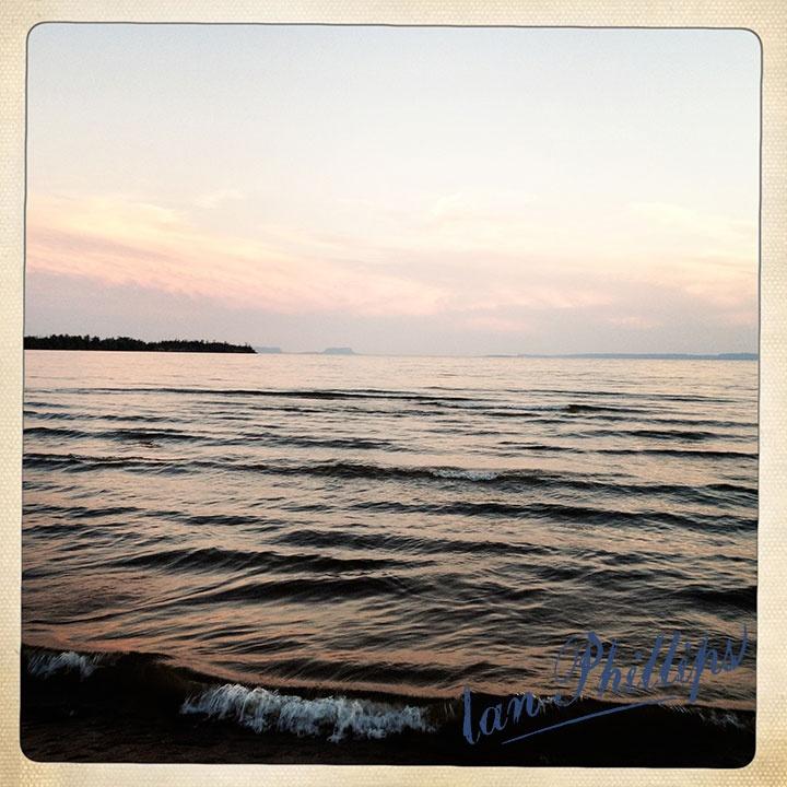 Nice night for a bonfire •Thunder Bay, on Lake Superior, at The Lakehead