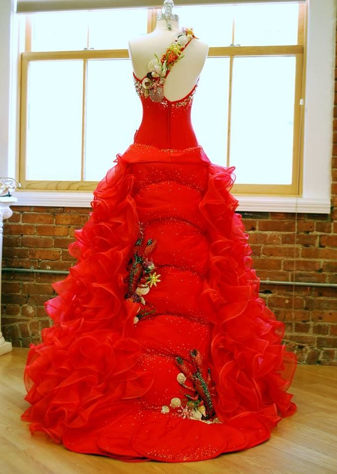 Lobster Dress For Miss Maine By Sondra Celli