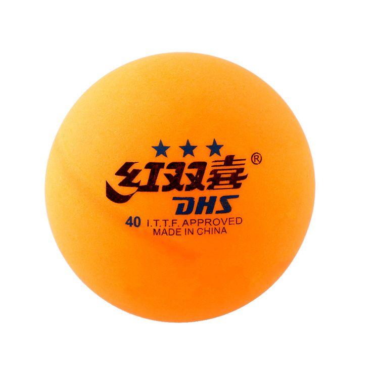 Kualitas tinggi 1 kotak 6 pcs 3 bintang dhs 40mm olympic tenis meja ping pong balls orange kuning tahan lama untuk kompetisi