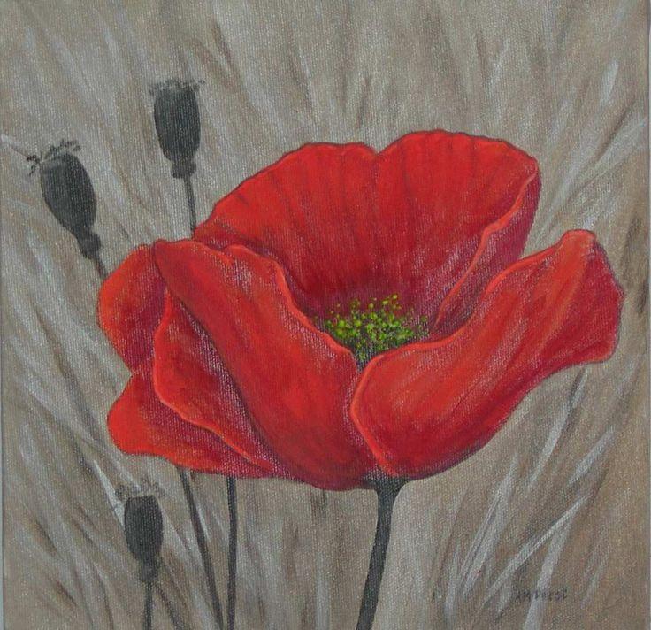 Peindre Fleur 224 L Acrylique Recherche Google