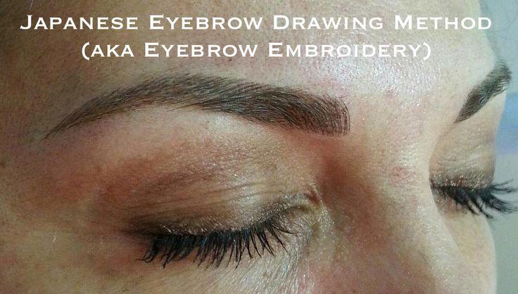 The Japanese method of drawing eyebrows (aka Japanese eyebrow embroidery)   Makeup Reviews ...