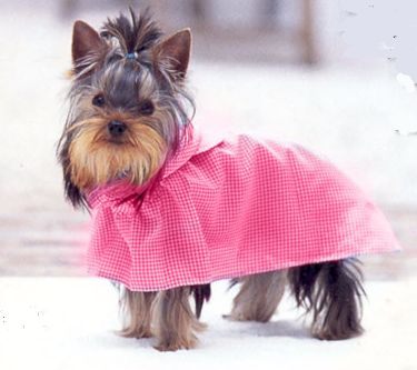 SPRING & AUTUMN HANDY PINK DOG RAINCOAT