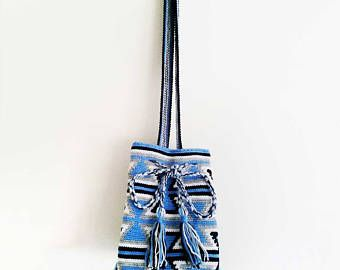 Wayuu Bag - Crochet Bag - Yarn Tote - Wayuu Tribal Style Bag - Hippie Bag - Tribal Boho Bag - Boho Tote - Artisan Woven Bag