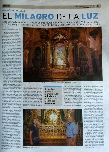 Photoinvestigacionchema: La Tribuna de hoy nos cuenta el Milagro de la Luz ...
