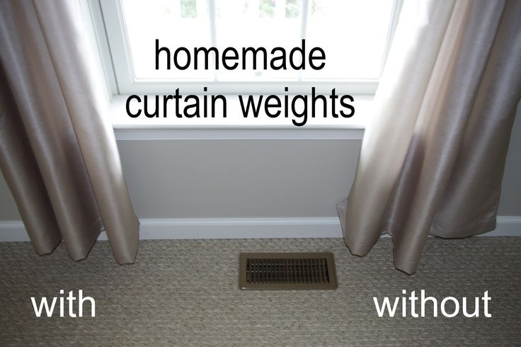 Make weights to help your drapes hang better