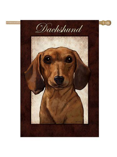 Delightful Decorative Garden Flag   Dachshund   Unique Gifts For Pet Lovers    Pawlished Paws/ Formerly Neiman Barkus