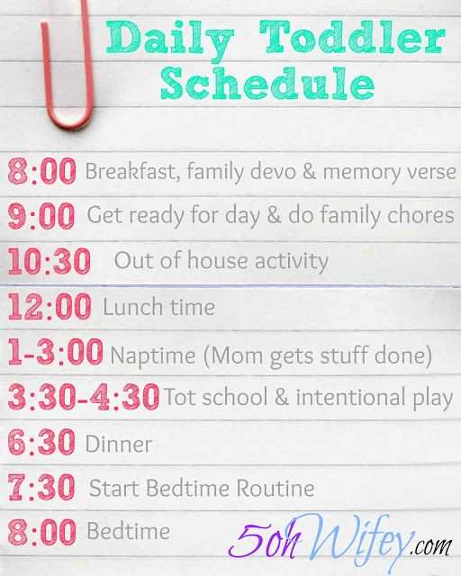 Sample Toddler Schedule