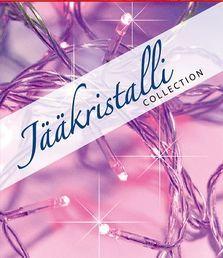 Valosarja, 40 LED, pinkki, sisä- ja ulkokäyttöön; Jääkristalli Collection | Rellunkulma.fi verkkokauppa
