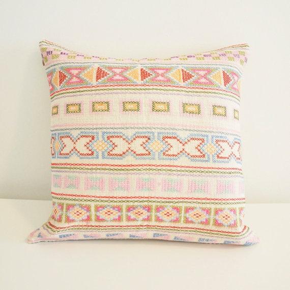 Soft white Hmong tribal hand stitched cotton by LittleAtticshop