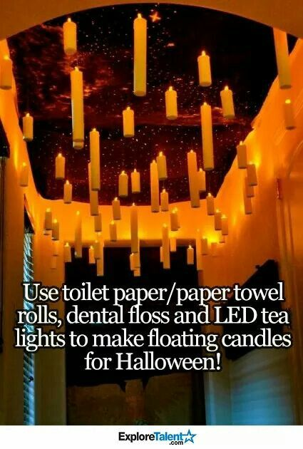tp rolls, dental floss and LED tea lights!