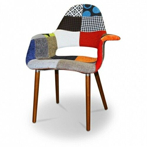 Replica Eames Organic Chair - patchwork