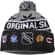 Men's Original Six Old Time Hockey Gray Sulphur Knit Hat