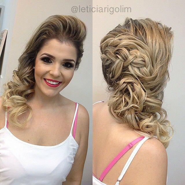 penteado de lado