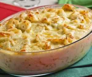 Receita de Bacalhau gratinado com queijo e batata - Show de Receitas