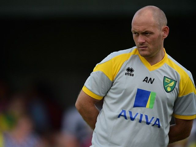 Manager of Norwich City, Alex Neil looks on during the pre season friendly match between Gorleston and Norwich City at Gorleston football and social club on July 11, 2015