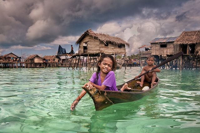 little Sea Gypsies: Omadal Islands Malaysia, Floating Village, House, Photo, Gypsy