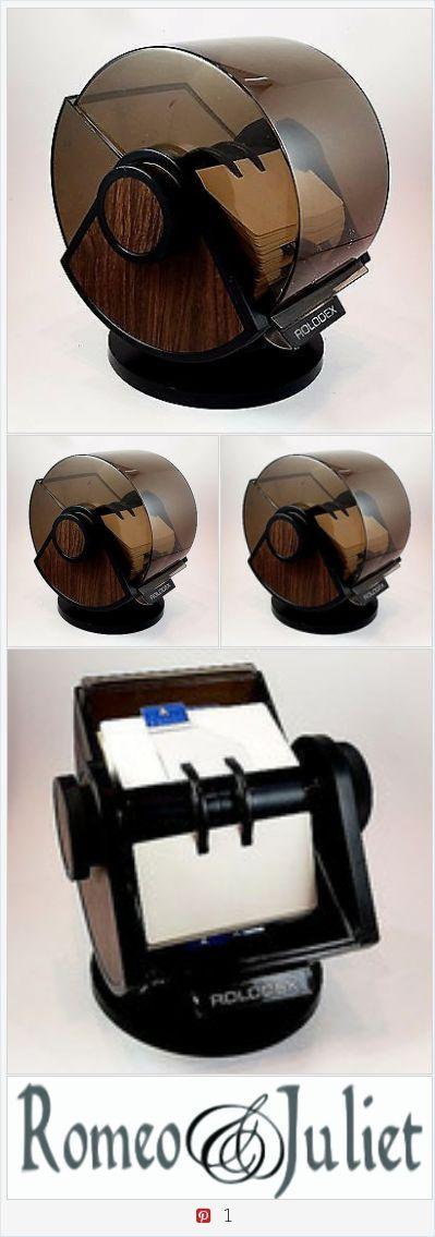 Rolodex SW-24C Wood Grain Classic Card Organizer Desk Contact Information o155