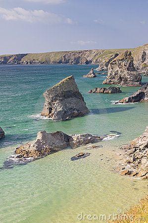 Coast of the Lizard peninsula in Cornwall England